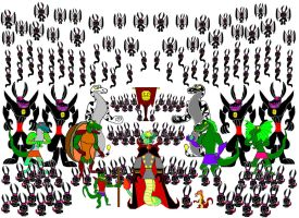 Serpos and his Mighty Army of Darkness by srebak
