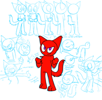 Knuckles the Cat model sheet by kitopia