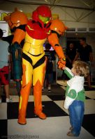 Samus and the child by Yukilefay