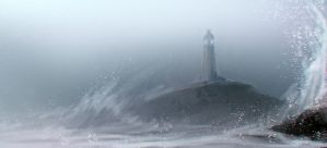 The Lighthouse And The Waves by DM7