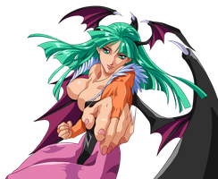 Morrigan - Mid Punch by ZabZarock