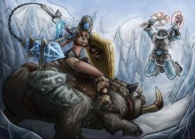 League of Legends - Sejuani vs Olaf by Dark-Emissary
