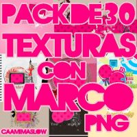 Pack De 30 Texturas Con Marco PNG by CaamiMaslow