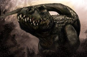 V Rex sketch by Sandoval -Art and painting by me by Gman20999
