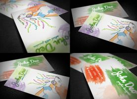 Creative Artistic BusinessCard by myjilson