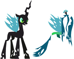 Queen Chrysalis Base by SelenaEde