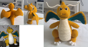 Dragonite Amigurumi by MiaHandcrafter