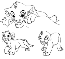 traced Lion king lineart 2 by Kitrei-Sirto