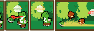 yoshi turtle shell technique 1 by bunnypistol69