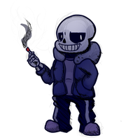 Sans Commission fully shaded example 001 by CouchpotatoPZ1