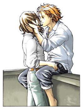 Hermione and Ron by nami64