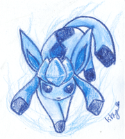 .Raging Glaceon. by Ishisu