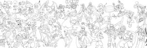 WIP - Smash Bros Tribute by DavidGongora