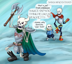 Joel Joins the Skelebros by LunaticLunic