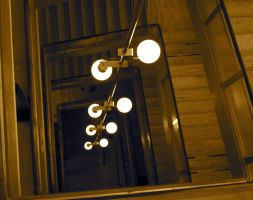 stock -- lights and stairway by Ginnyhaha-Stock