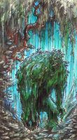 SWAMP THING STAGE 2 by QuinteroART