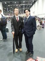 Jim Moriarty and Mycroft Holmes at MCM expo london by MsHarkness872