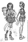 MH: Hellboy Girls by I-heart-Link