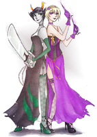 Homestuck: Flighty Broads by gomimushi