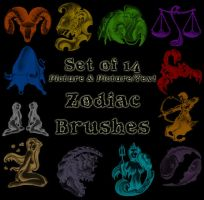 Zodiac Brushes - Photoshop by Cyb3rPaw