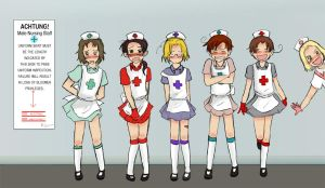 Nurse Line Up by Arkham-Insanity