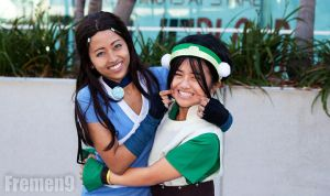 Katara and Toph: Cheeeeese by hellozombie
