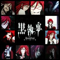 Grell, Collage by PufferfishCat