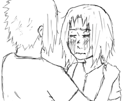 Just Comfort Me - lineart by Roxra