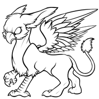 Gryphon - Free Lineart by AttackTheMap