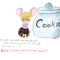 Who took the cookie from the cookie jar by Momoiroai