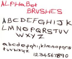Alphabet brushes by Chill-morte