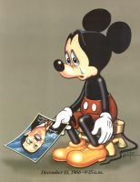 Mourning Mickey by snowsowhite