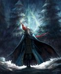Dumbledore and Fawkes by hueco-mundo