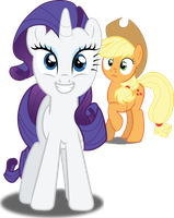 Applejack Shocked When Rarity Stared To Sing by shaynelleLPS