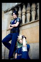 Zack and Cloud - powerful team by MiraiSadame