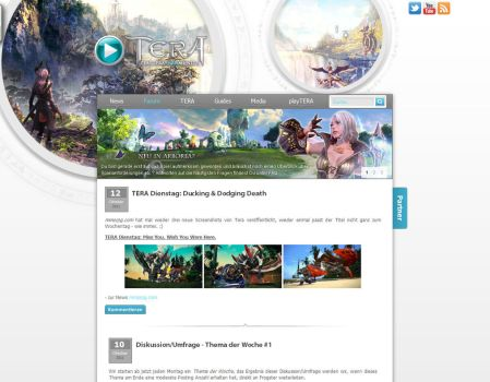 TERA Fansite Layout 3 by Dohle