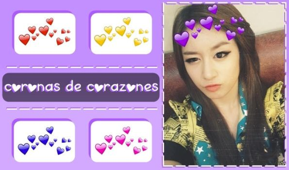 Pack PNG | coronas de corazones / heart crowns O1 by Vaeby