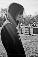 Jesse at the Cemetery BW by MariaWillhelm