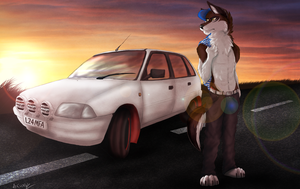 Brad's Citroen AX by TheDaylightWolf