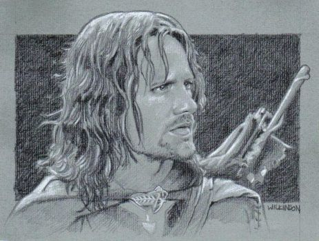 Aragorn sketch commission by sarahwilkinson
