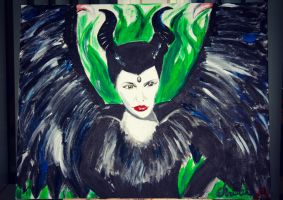 Maleficient painting attempt by Gothchick1995
