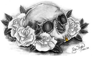 Skull and Roses by ryanschipper89