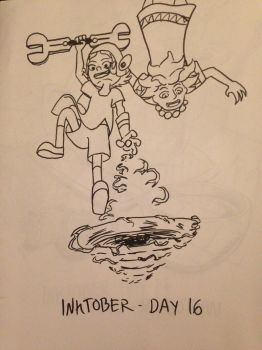 2016 - 10oct - Inktober (Day 16) by mosobot64