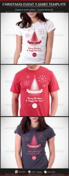 Christmas and New Year Event T-Shirt Template by madebygb
