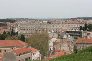 View in Pula from above by ingeline-art