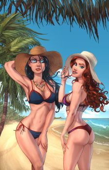 GFT Swimsuit 2017 Sela and Belinda color by cehnot