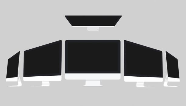 iMac Flat Mock up by theanthnonyrich