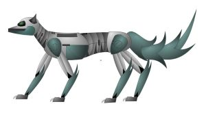 Robotic Dog Vector by Eben-swf