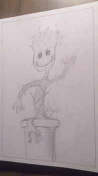 Doodle #19 - Baby Groot by ZombieGarou
