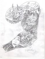 Hannya sleeve project by Kobraxxx